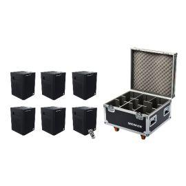 Showven Sparkular Mini 6 Pack - Includes (6) Sparkular Mini Cold Spark Machine, (1) 6-Unit Roadcase, and (2) Infrared Remote