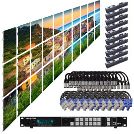 SZL GN 2.6MM 16.42FT x 9.85FT Install LED Video Wall System 10x3 30 Panel Package