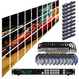 SZL GN 3.9MM 16.42FT x 9.85FT Install LED Video Wall System 10x3 30 Panel Package