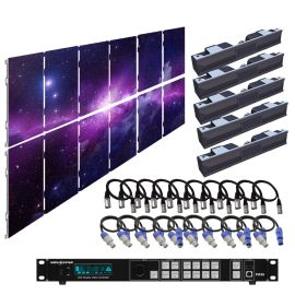 SZL GN 2.6MM 9.85FT x 6.57FT Install LED Video Wall System 6x2 12 Panel Package