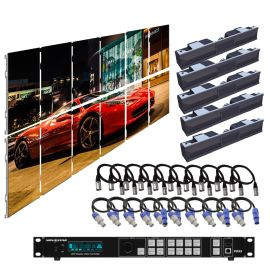 SZL GN 3.9MM 9.85FT x 6.57FT Install LED Video Wall System 6x2 12 Panel Package