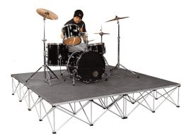 """Intellistage ISDRUM6416 - 8FT x 8FT, 16"""" High Collapsible Stage System"""