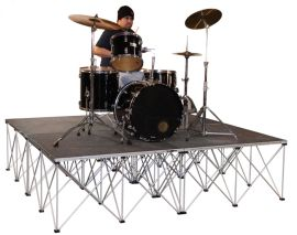 """Intellistage ISDRUM6424 - 8FT x 8FT, 24"""" High Collapsible Stage System"""