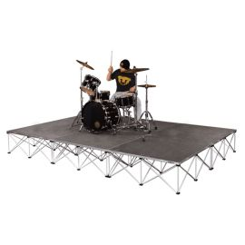 """Intellistage ISDRUM9616 - 12FT x 8FT, 16"""" High Collapsible Stage System"""