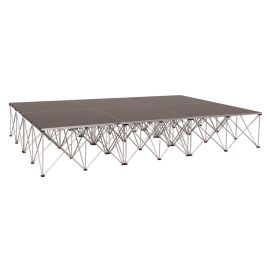 """Intellistage ISDRUM9624 - 12FT x 8FT, 24"""" High Collapsible Stage System"""