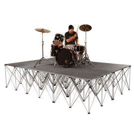 """Intellistage ISDRUM9632 - 12FT x 8FT, 32"""" High Collapsible Stage System"""
