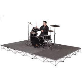 """Intellistage ISDRUM968 - 12FT x 8FT, 8"""" High Collapsible Stage System"""
