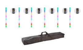 JMAZ Lighting Galaxy Tube 6 Pack - 32 x SMD RGB LED 1 Meter Color Tube (6 Pack)