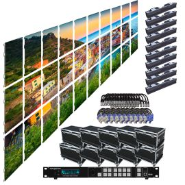 SZL RI 2.9MM 16.42FT x 9.85FT Rental LED Video Wall System 10x3 30 Panel Package