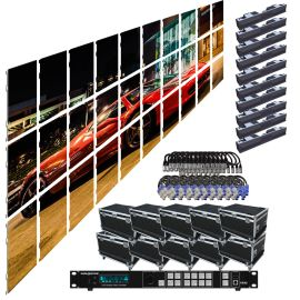 SZL RI 3.9MM 16.42FT x 9.85FT Rental LED Video Wall System 10x3 30 Panel Package