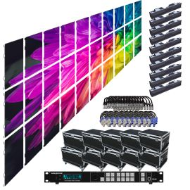 SZL RO 4.8MM 16.42FT x 9.85FT Rental LED Video Wall System 10x3 30 Panel Package