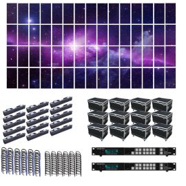 SZL RI 3.9MM 24.36FT x 13.12FT Rental LED Video Wall System 15x4 60 Panel Package