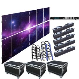 SZL RO 3.9MM 9.85FT x 6.57FT Rental LED Video Wall System 6x2 12 Panel Package