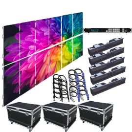 SZL RI 3.9MM 9.85FT x 6.57FT Rental LED Video Wall System 6x2 12 Panel Package