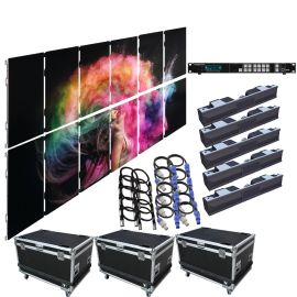 SZL RO 4.8MM 9.85FT x 6.57FT Rental LED Video Wall System 6x2 12 Panel Package