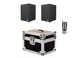 Showven Sparkular Mini 2 Pack - Includes (2) Sparkular Mini Cold Spark Machine, (1) 2-Unit Roadcase, and (1) Infrared Remote
