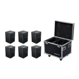 Showven Sparkular 6 Pack - Includes (6) Sparkular Cold Spark Machine, and (1) 6-Unit Roadcase.